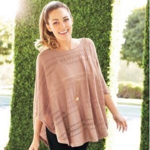 Lauren Conrad Light Weight Pink Poncho Size L/XL